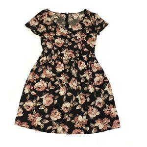 Mossimo Dress Sheath Short Sleeve Floral Small